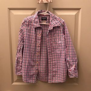 Oshkosh Gingham Print Oxford pink & blue